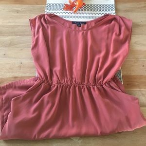 Burnt Red / Rose Dress with Pockets
